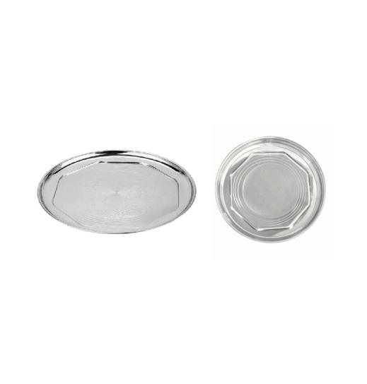 Stainless Steel Dinner Plate 01