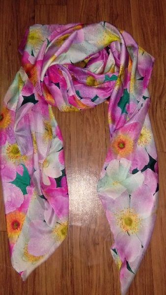 Digital Print 100% Pareo Silk Stole 01