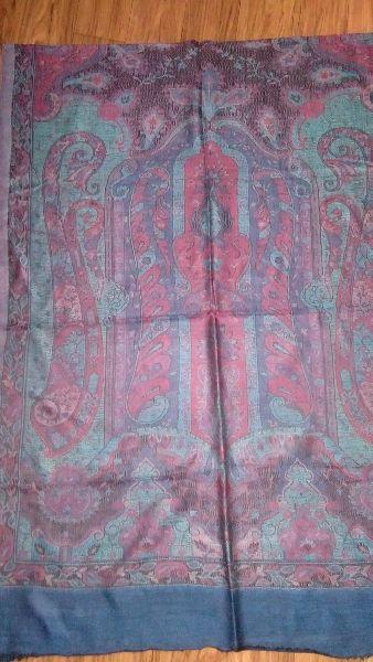 Fine Wool Jamawar Pala Stole  01