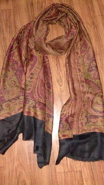 Fine Wool Jamawar Pala Stole  02