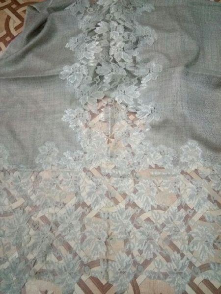 Fine Wool Lace Stole 05