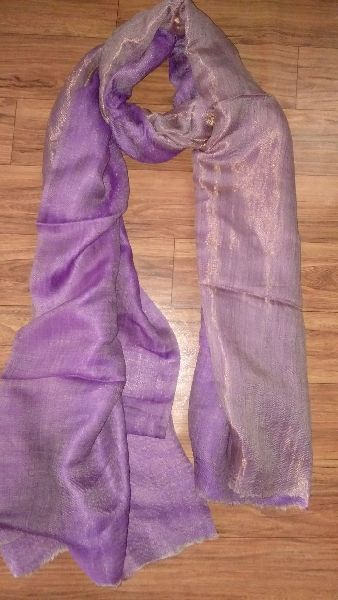 Reversible Zari Fine Wool Stole 06