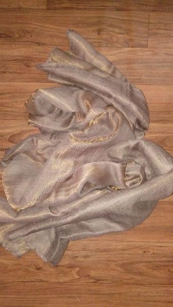 Reversible Zari Fine Wool Stole 02