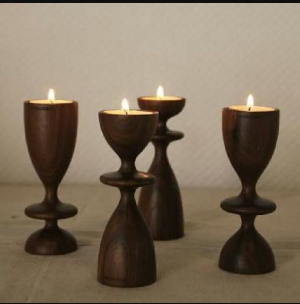 Wooden Candle Stand 06