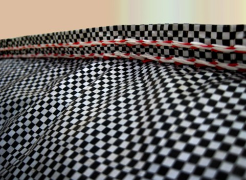 HDPE & PP Checkered Woven Fabric