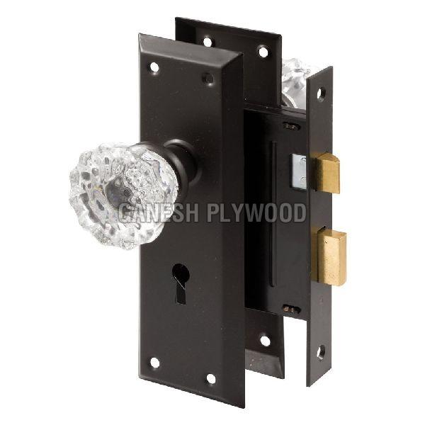 Mortise Lock Set  With Glass Knob