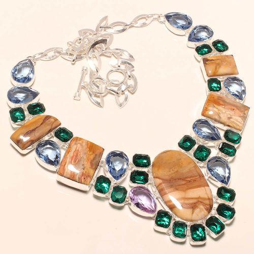 Multicolor Gemstone Beaded Necklace 01