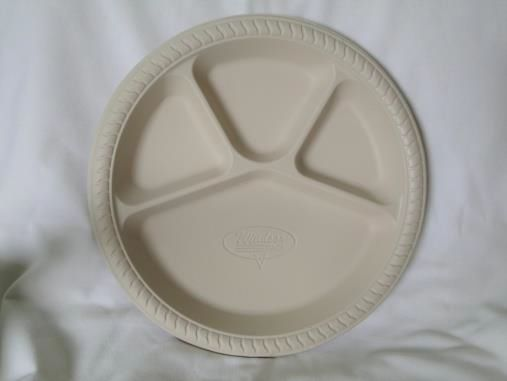 Biodegradable 12 Inch 4 Cp Round Plate