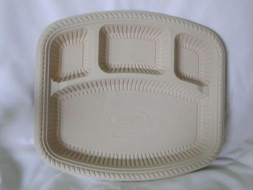 Biodegradable 4 Cp Square Plate
