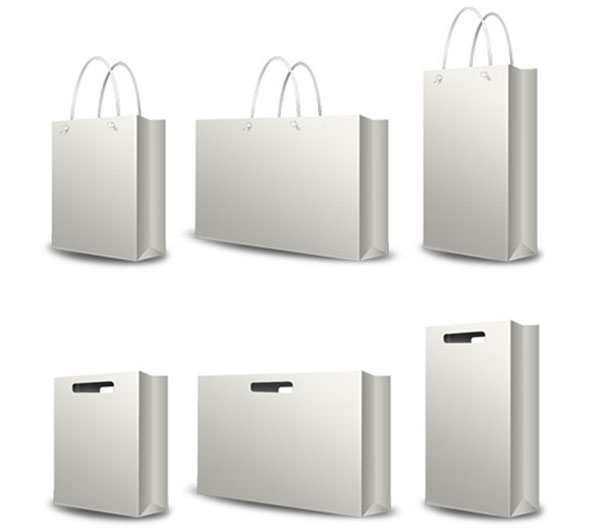White Paper Shopping Bag 01