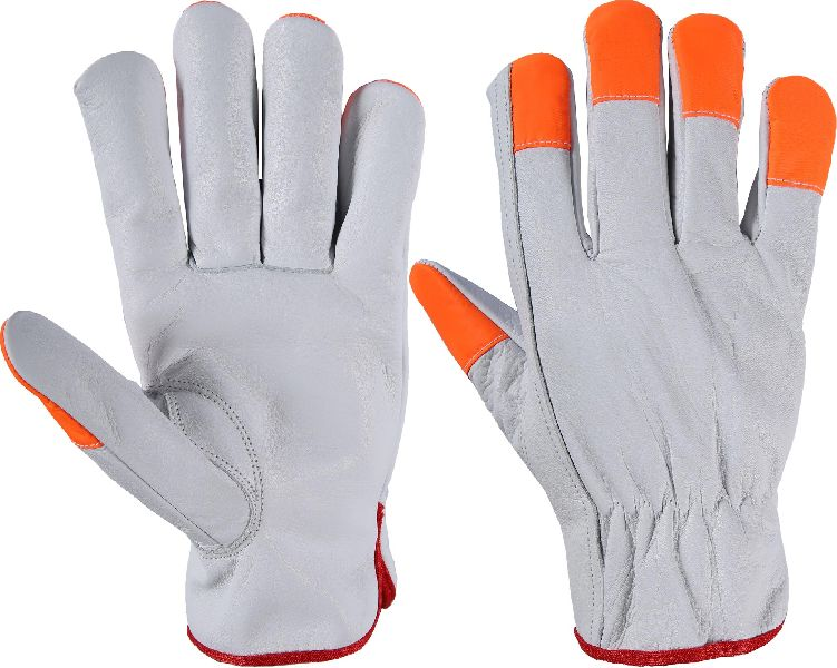 Best Quality High Vis Driving Gloves / Working Gloves / Leather Driving Gloves