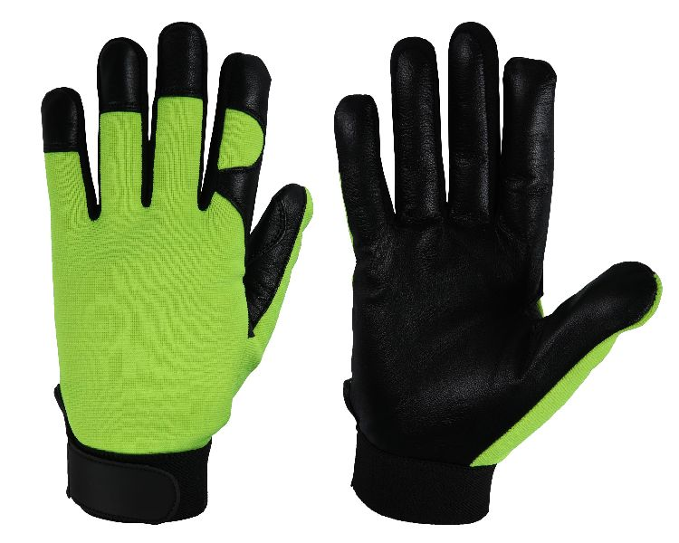 FH416E Hi-Vis Green Mechanic Gloves