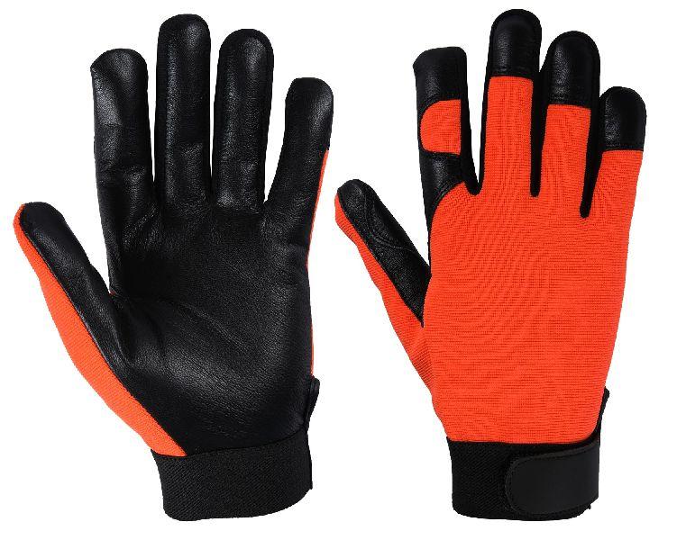 Top Quality Mechanic Gloves / Goatskin Palm Mechanic Gloves / Mechanical Gloves, Best Quality Goatskin Mechanic Gloves
