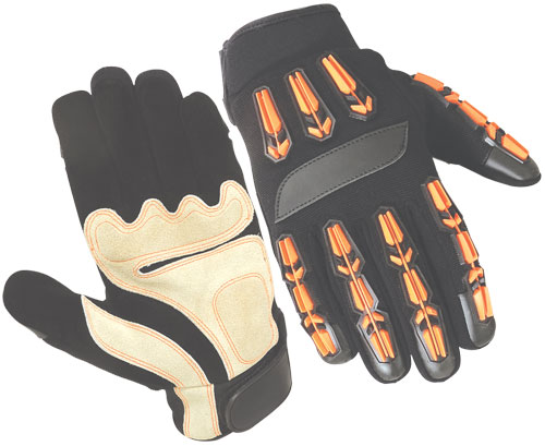 Impact Protection Gloves for Oil and Gas Industries / Anti Vibration Gloves / Mechanic Gloves / Safety Work Non-Slip Gloves