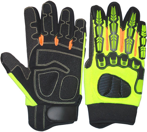 TPR Impact Protective Mechanic Gloves / Oil and Gas Industries Gloves / TPR Gloves / Mechanic Gloves
