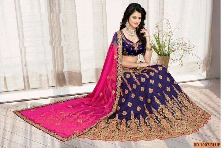 Blue Collection Bridal Lehenga Choli