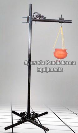Stainless Steel Light Weight Shirodhara Stand with Vessel