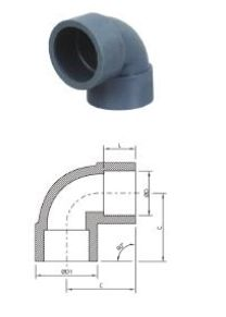Socket Type Plain Moulded Elbow
