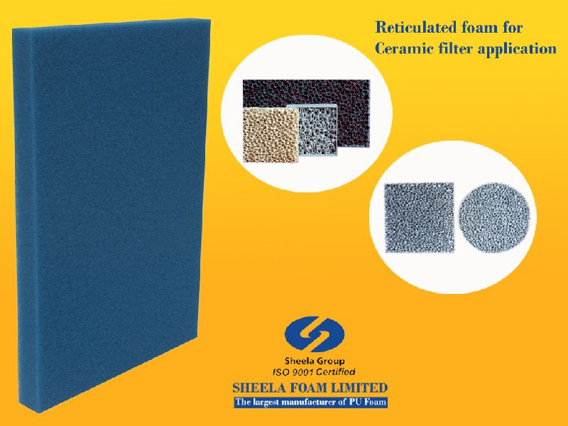 Ceramic Filter Reticulated Foam Sheets