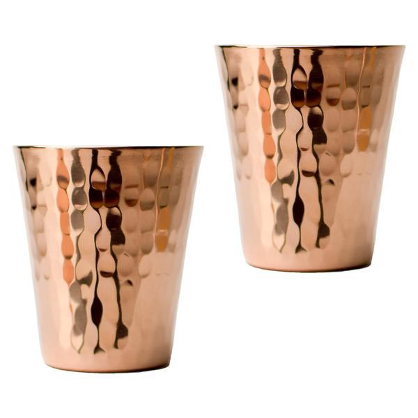 Copper Hammered Shot Glasses
