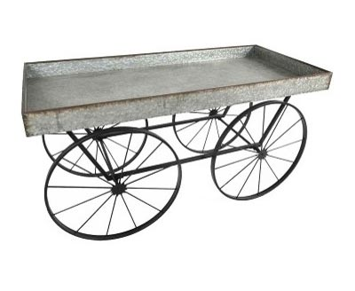 Farmhouse Galvanized Cart