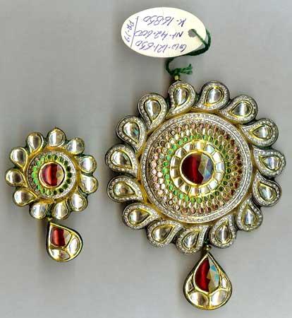 Kundan pendantdesigner kundan pendantskundan necklace pendant kundan pendant aloadofball Choice Image