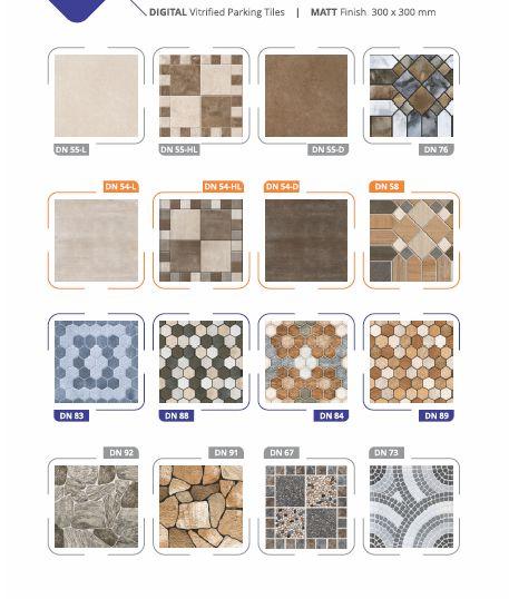 Matt Finish Digital Vitrified Parking Tiles