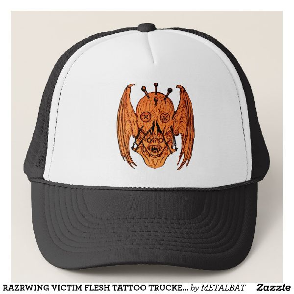 Razrwing Victim Flesh Tattoo Trucker Cap