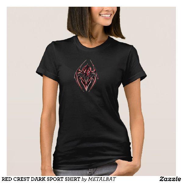Ladies Red Crest Dark Sport T-Shirts