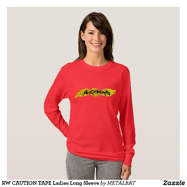 Ladies Caution Tape T-Shirts