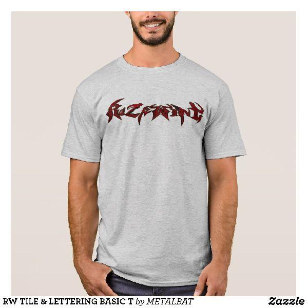 Mens Tile & Lettering Basic T-Shirts