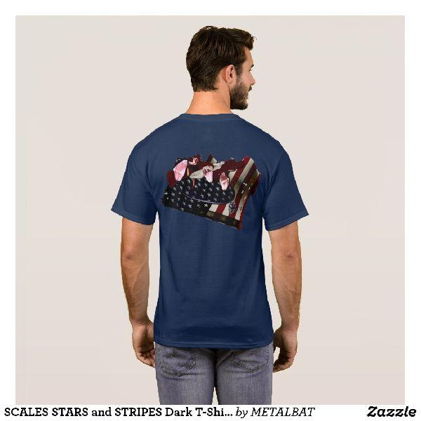 Mens Scales Stars and Stripes Dark T-Shirts
