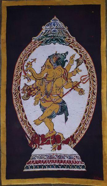 Nataraja Style Ganesha Painting 02