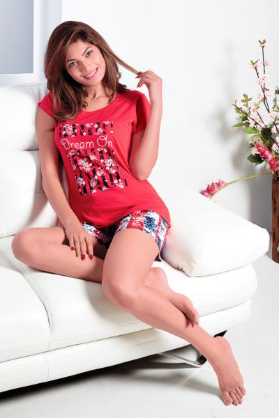 Ladies T-Shirt and Shorts Set