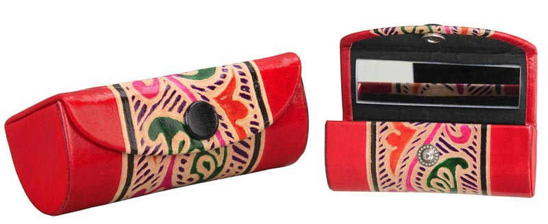 Shanti Leather Single Lipstick Cases