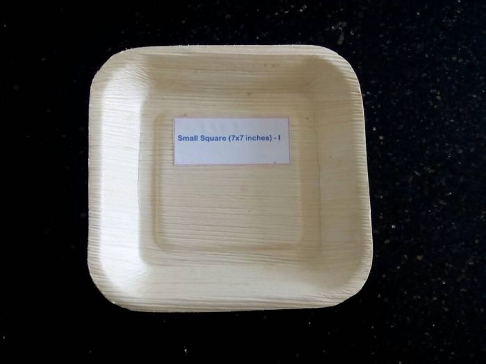 7x7 Inch Areca Leaf Small Square Plates & 7x7 Inch Areca Leaf Small Square Plates Manufacturer Supplier in ...