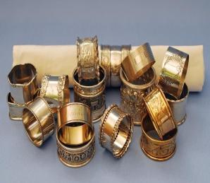 Copper Napkin Ring Set