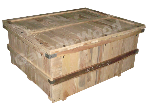 Bolting type wooden box