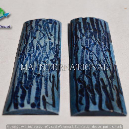 MASBS04 Dyed Stabilized Jigged Bone Scales