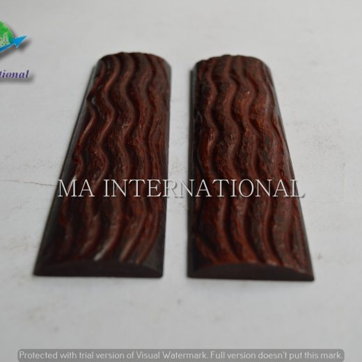 MAJBS03 Dyed Stabilized Jigged Bone Scales