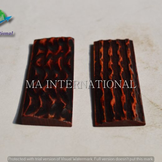 MAJBS06 Dyed Stabilized Jigged Bone Scales