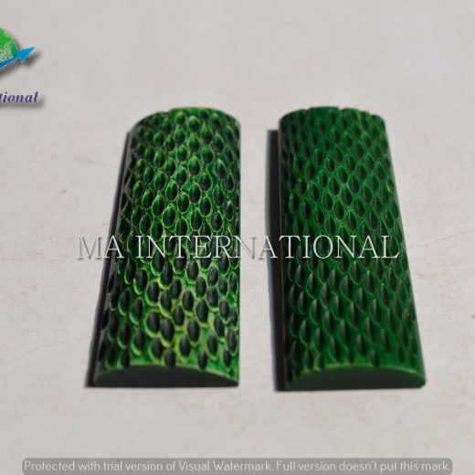 MAJBS12 Dyed Stabilized Jigged Bone Scales