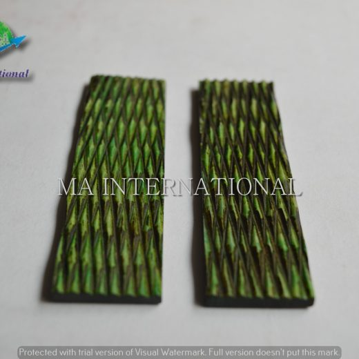 MAJBS17 Dyed Stabilized Jigged Bone Scales
