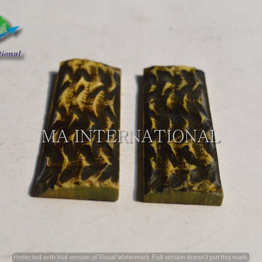 MAJBS19 Dyed Stabilized Jigged Bone Scales