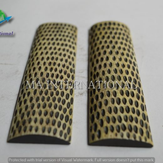 MAJBS22 Dyed Stabilized Jigged Bone Scales