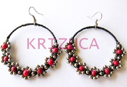 nadaung alloy handmade earrings