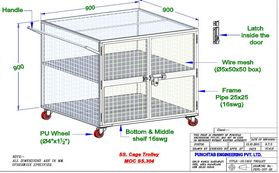 Clean Room Cage Trolley