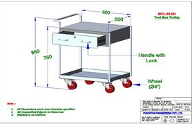 Clean Room Tool Box Trolley
