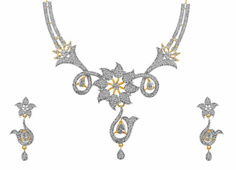 American Diamond Necklace Set 03