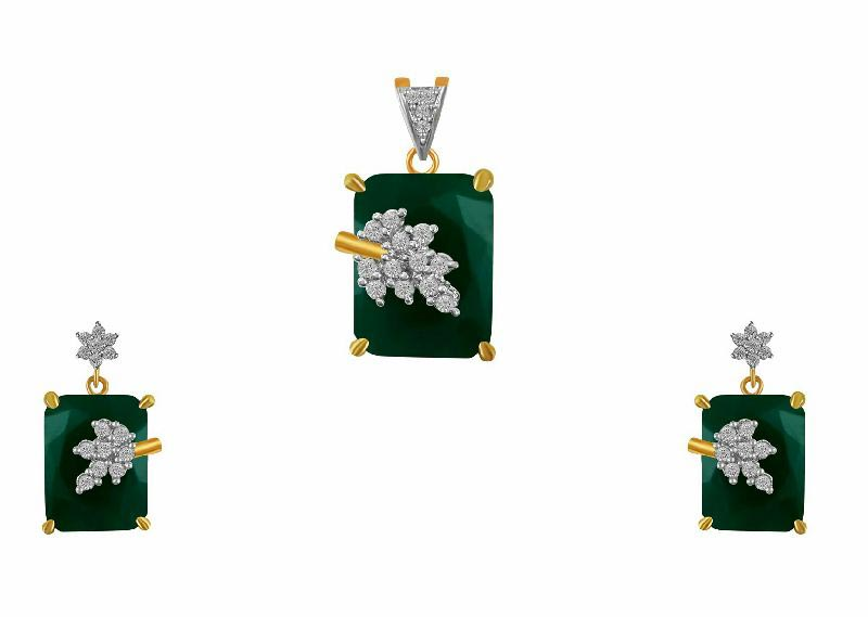 American Diamond Pendant Set 03